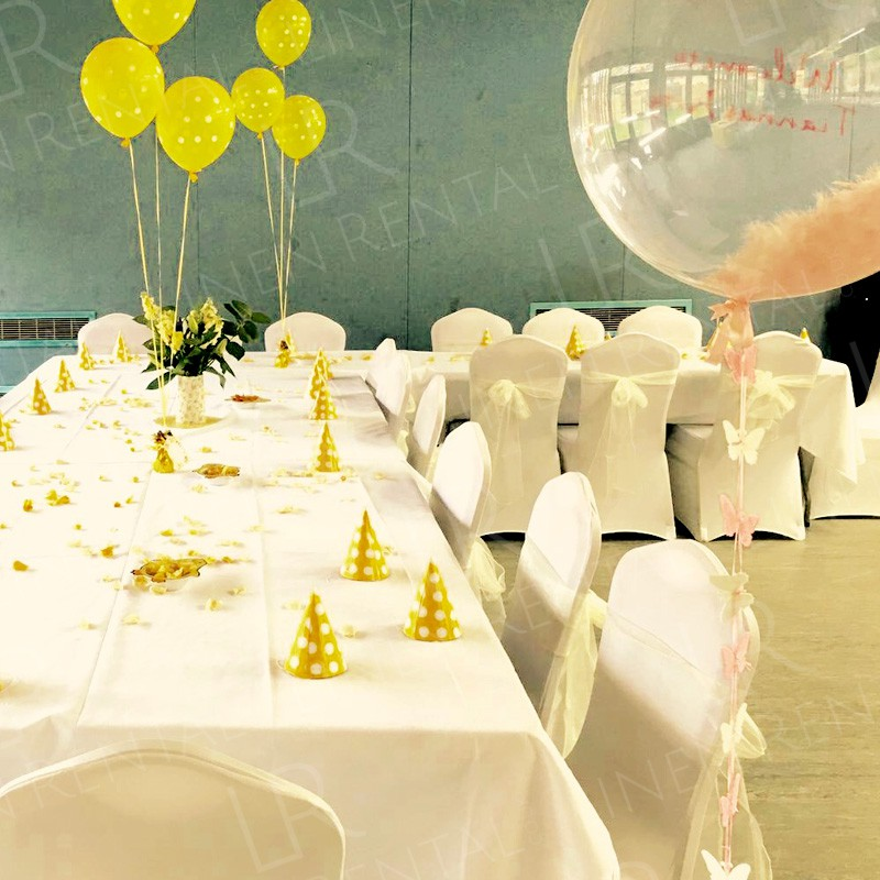 Birthday Party - Supplying tablecloths and fitted chair covers to create the perfect environment for a party.