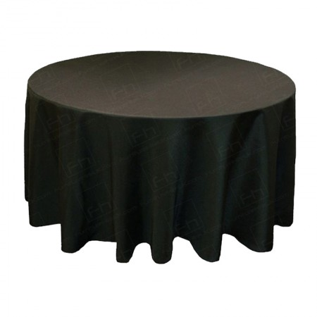 1220mm Round Table Cloth - Black