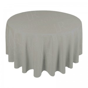 108 Inch Round Dove Grey Tablecloth