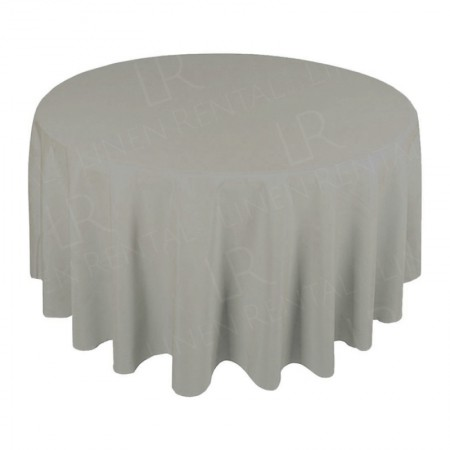 108 Inch Round Dove Grey Tablecloth Hire