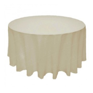 "108"" Round Ivory Tablecloth"