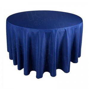 108 Inch Round Navy Blue Tablecloth