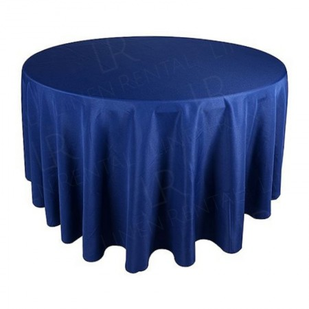108 Inch Round Navy Blue Tablecloth Hire
