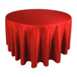 108 Inch Round Red Tablecloth