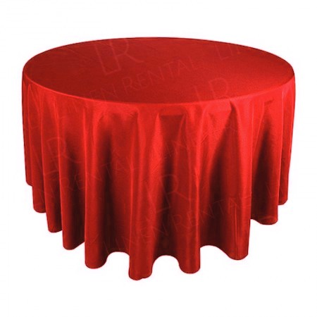 108 Inch Round Red Tablecloth Hire