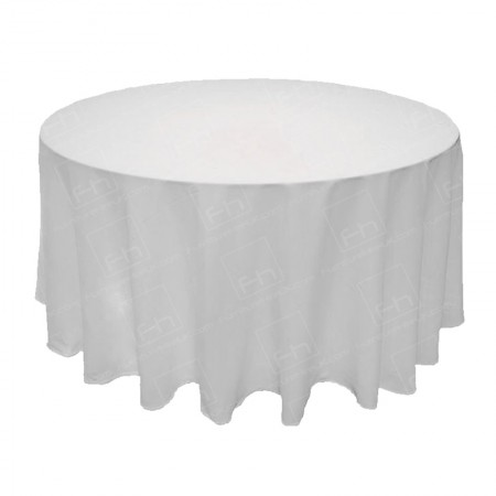 1220mm Round Table Cloth - White