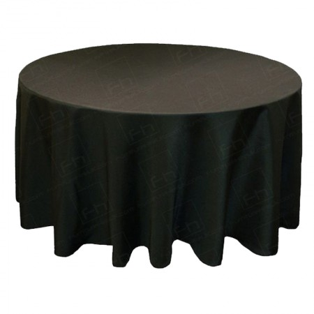 1525mm Round Table Cloth - Black