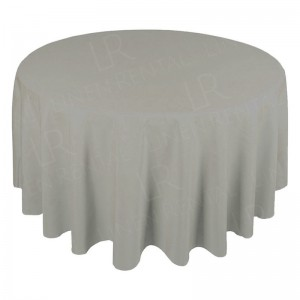 118 Inch Round Dove Grey Tablecloth