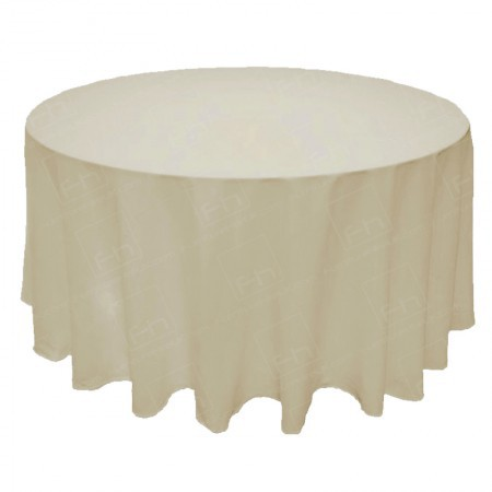 "118"" Round Ivory Tablecloth"
