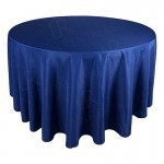118 Inch Round Navy Blue Tablecloth