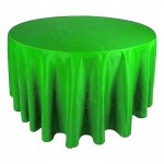 """130"""" Round Lime Green Tablecloth"""
