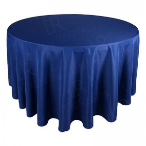 130 Inch Round Navy Blue Tablecloth