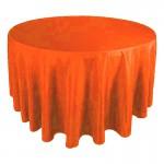 "130"" Round Orange Tablecloth"