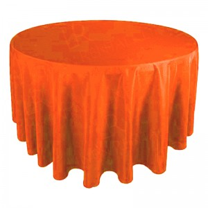 "130"" Round Orange Tablecloth"