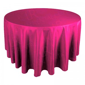 "130"" Round Sunset Pink Tablecloth"