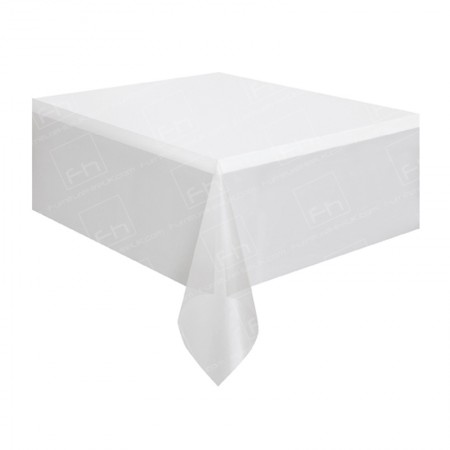 Square Bistro Table Cloth - White