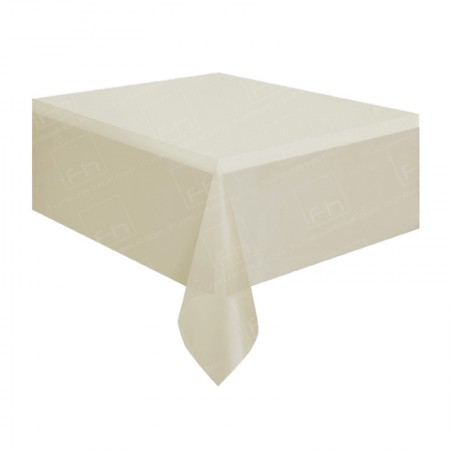 1220mm Rectangular Table Cloth - Ivory
