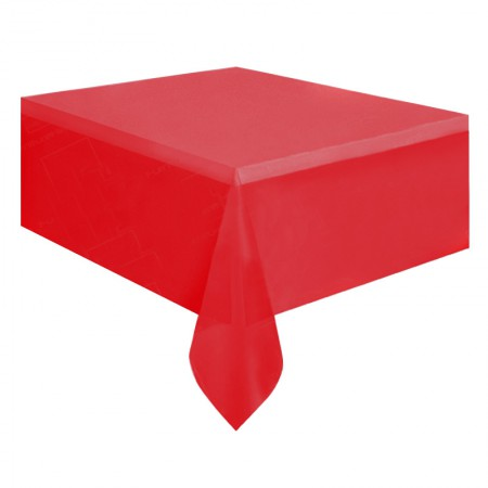 1830mm Rectangular Table Cloth - Red