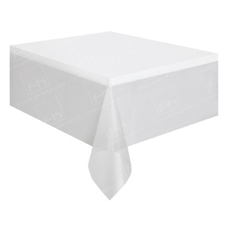 1830mm Rectangular Table Cloth - White