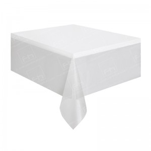 70 x 70 Inch White Bistro Tablecloth