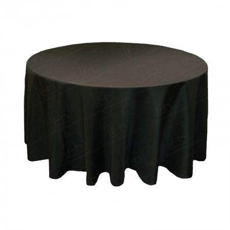 1220mm Round Table Cloth - Black 3/4 Drop