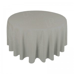 88 Inch Round Dove Grey Tablecloth