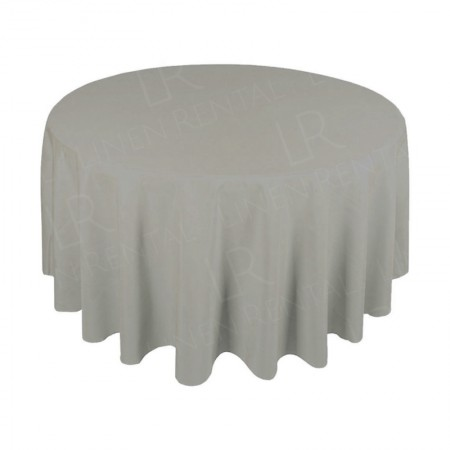 1220mm Round Table Cloth - Dove Grey 3/4 Drop