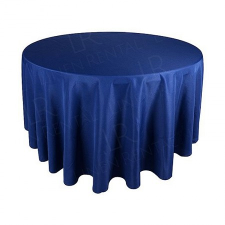 88 Inch Round Navy Blue Tablecloth