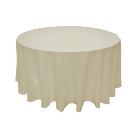 88 Inch Round Table Cloth - Ivory