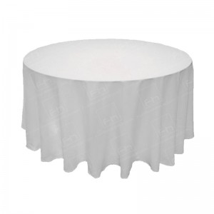88 Inch Round White Tablecloth