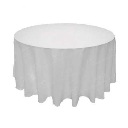 1220mm Round Table Cloth - White 3/4 Drop