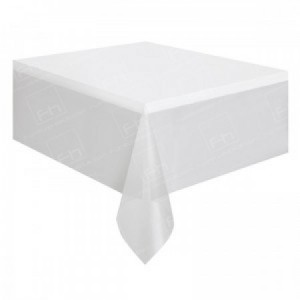 90 x 132 Inch White Tablecloth