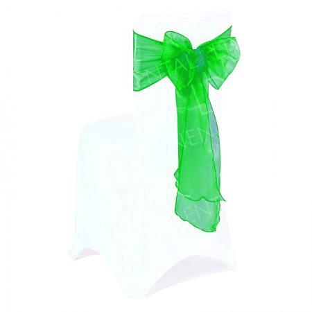 Apple Green Organza Chair Bow