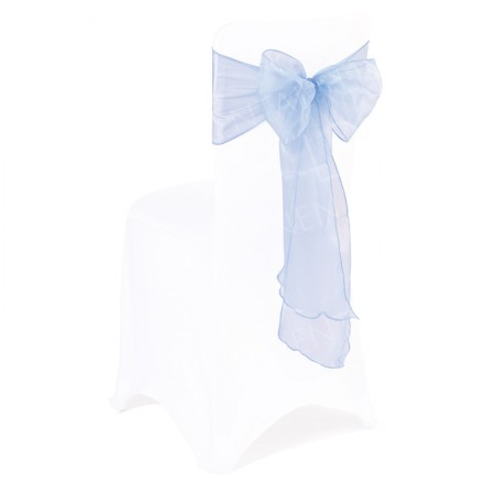 Baby Blue Organza Chair Bow
