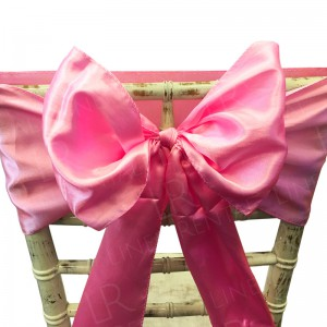 Baby Pink Satin Chair Bow