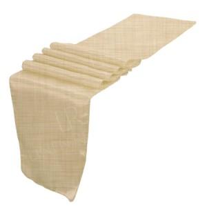 Beige Linen Table Runner