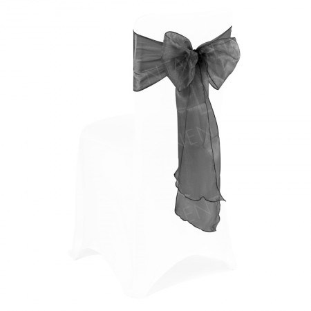 Black Organza Chair Bow