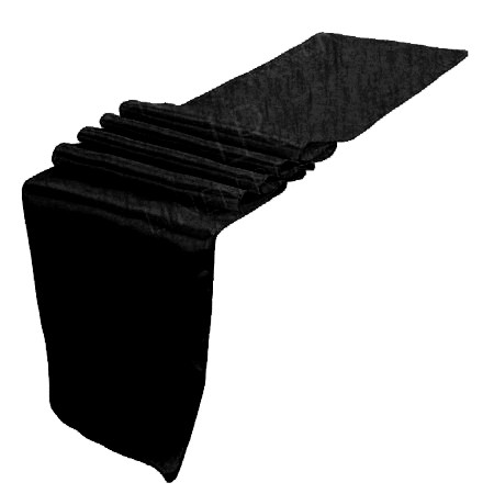 Taffeta Table Runner - Black