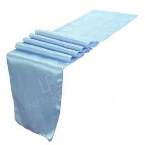 Baby Blue Satin Table Runner