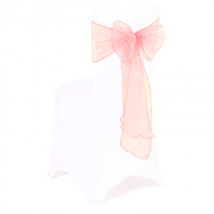 Blush Pink Organza Chair Bow