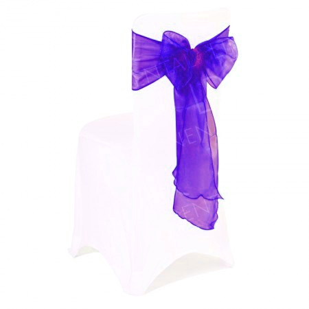 Cadbury Purple Organza Chair Bow
