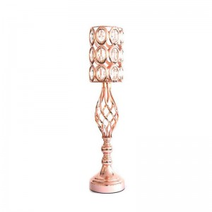 Crystal Candle Holder Rose Gold
