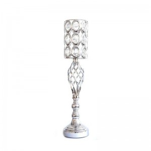 Crystal Candle Holder Silver