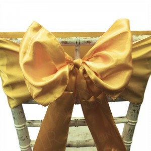 Dark Gold Satin Chair Bow