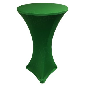 Fitted Green Poseur Table Cover