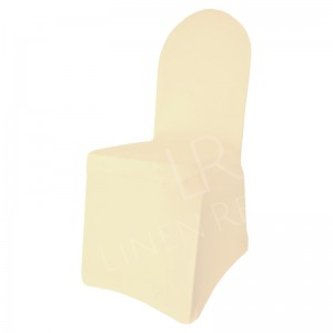 Ivory Fitted Lycra Chair Cover