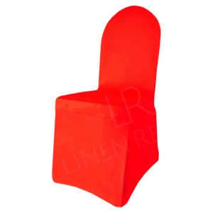 Red Fitted Lycra Chair Cover