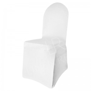 White Fitted Lycra Chair Cover