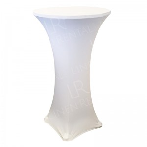 Fitted White Poseur Table Cover