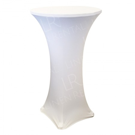 Fitted Poseur Table Cover - White